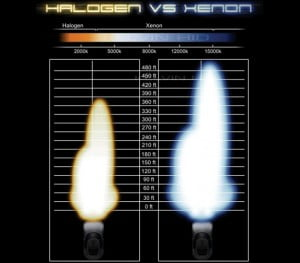 halogen vs xenon headlights